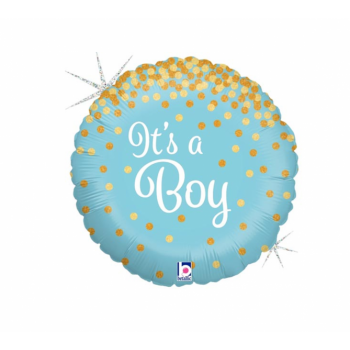 """Õhupall, IT'S A BOY, 18"""", HAPPY FOREVER"""