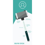 Selfie Stick, valik, bluetooth´iga, BlurbyAccessories